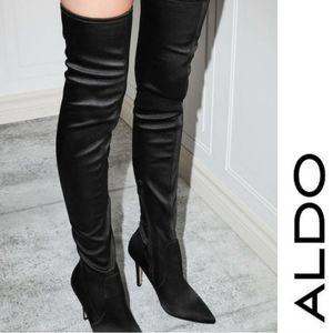 Sexy Satin Stretch Over the Knee Aldo Boots